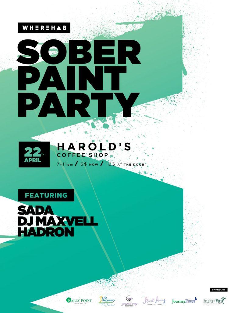Wherehab Sober Paint Party